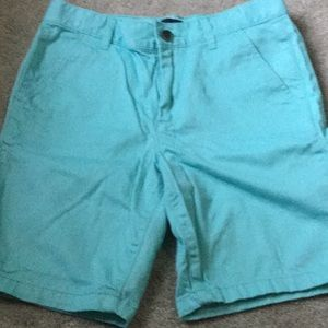 Children's Place flat front turquoise shorts.